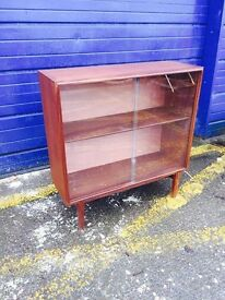Mid Century Teak Glazed Bookcase by Beaver and Tapley - Retro and Vintage