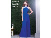 Dessy Bridesmaid 2917 Dress in Sapphire Blue size 16