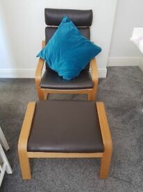 Rocking armchair and footstool *immaculate condition*