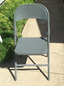 4 Metal Folding Chairs for sale!