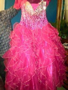 Hot Pink Anjali Graduation Gown