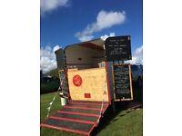 Vintage horse catering trailer