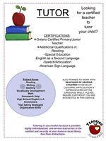 Tutor Burlington - Ontario Certified Teacher Watch|Share |Print|