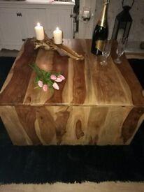 Stunning solid mango wood coffee table