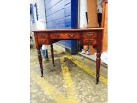 Edwardian Mahogany Ladies Leather Topped Writing Desk - Antique, Vintage, Retro
