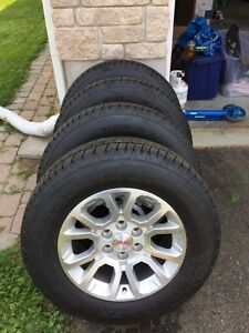 Four Goodyear Wrangler SR-A Tires and Rims (never used)
