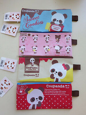 NWT Girls Creative Design Canvas Panda Pencil Bag Makeup Case Cute Stationery