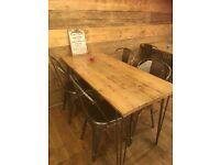 beautiful handmade reclaimed wood tables