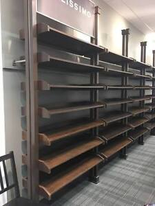 Commercia retail shelving units