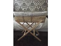 Moses basket with mattress and sheets Clair de Lune