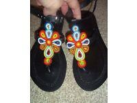 Kenyan beaded sandals