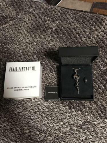 Square Enix Final Fantasy XIII 13 Serah Farron Silver Engage Pendant Necklace