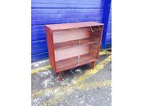 Gorgeous Retro Mid Century Beaver & Tapley Teak Bookcase/ Display Cabinet