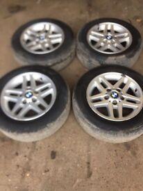 """Genuine BMW 3 Series E46 Set of 4 Alloy wheels 15"""""""