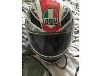Helmet and motorbike jacket