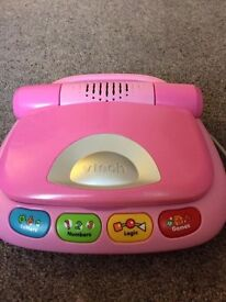 Pink Vtech laptop fully working
