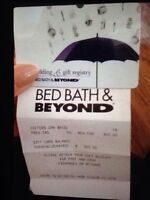 Bed bath and beyond gift card $300 for $270