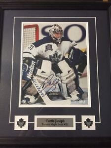 Autographed picture of Curtis Joseph
