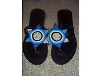 Kenyan masai beaded sandals, size 8/9 (42)