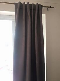 DKNY curtains in textured grey.