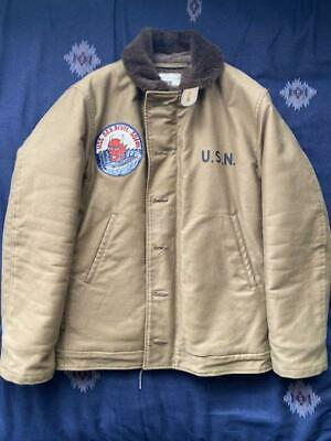 Used, The REAL McCOY'S Type N-1 deck jacket USS Seadevil Custom model Made in Japan for sale  Shipping to Ireland