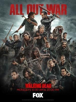 "The Walking Dead Season 8 AMC T TV Poster Silk Print 13x20"" 20x30"" 24x36"""