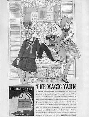 1960 Florence Eiseman  PRINT AD I. Magnin Childrens Little Girls Fashion