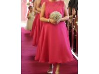 Raspberry Mark Lesley bridesmaid dresses