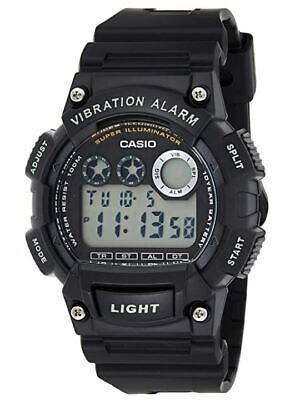 Casio W735H/1A Mens Digital Sports Watch Alarm Stopwatch 100M Black Resin