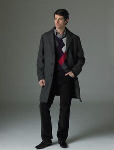 New RW&CO Men's Trench Wool Coat