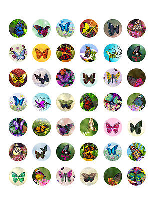 Butterfly Themed PRINTABLE Bottle Cap Images~  42 Different Designs!