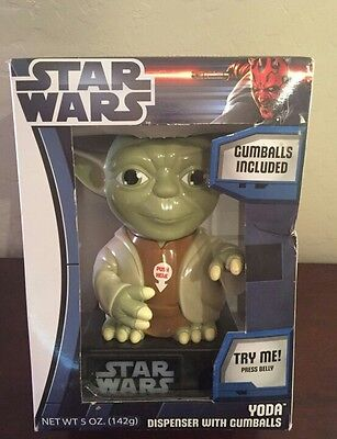 """Star Wars Yoda 9"""" Gumball Machine BRAND NEW"""