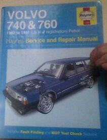 books,volvo 740/760 models repair manual.