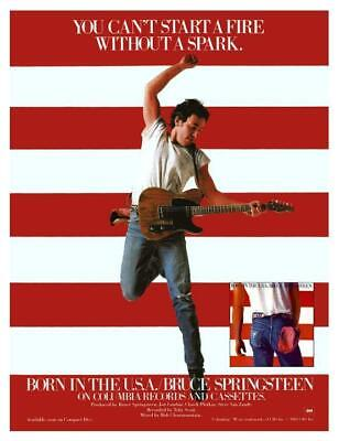 Bruce Springsteen *LARGE POSTER* Born In The USA - must see Promo ad