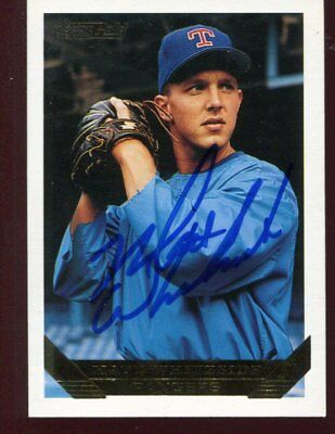 TEXAS RANGERS  mlb MATT WHITESIDE  signed TRADING CARD autograph #181