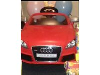 Red ride in audi