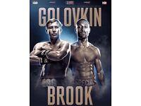 4 x GGG vs Brooke *upper tier* Tickets, O2 arena London, September 10