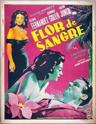 Flor De Sangre 1951 Mexican Movie Poster