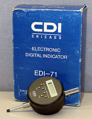 Cdi Chicago Dial Edi-71 Electronic Digital Indicator New