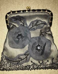 Black headed evening clutch/purse