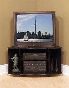 NEW!!! Corner TV stand in Black Regular Retail $329 Model NE94 Now $49