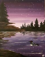 "Paint Night! Trenton Knights of Columbus ""Algonquin Loon"""