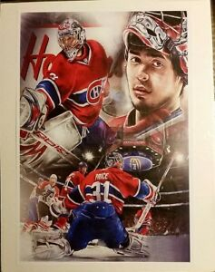 Carey Price Professional Print and Neon Canadiens sign and MORE