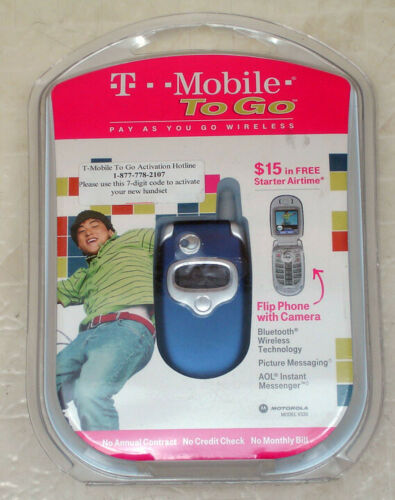 Motorola V330 flip phone T-Mobile NEW old stock - factory sealed
