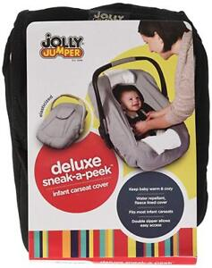 Infant carseat cover- Jolly Jumper-deluxe sneak-a-peak