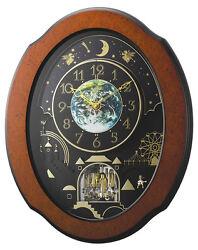 (New!) TIMECRACKER COSMOS Musical Magic Motion clock Rhythm clocks 4MH879WU06
