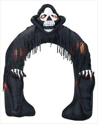 RARE Gemmy 9' Airblown Skeleton Grim Reaper Archway Yard Inflatable