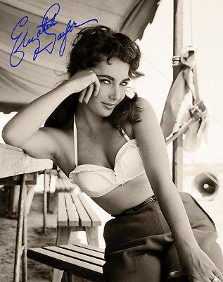 ELIZABETH TAYLOR Screen Legend Beauty 8x10 AUTOGRAPHED Photograph RP