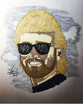 Acheter Country Music Legend Keith Whitley Orig Art Sketched Portrait bon marché