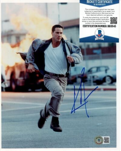 KEANU REEVES signed 8x10 SPEED JACK TRAVEN photo Beckett BAS